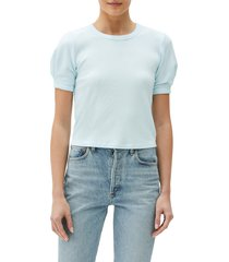 michael stars mindy puff sleeve crop top, size medium in clearwater at nordstrom