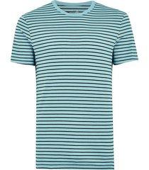 mens aqua blue slim stripe t-shirt