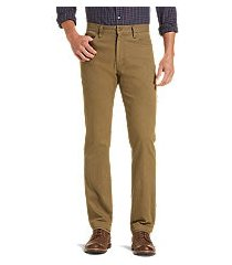 1905 collection tailored fit flat front cotton canvas pants clearance by jos. a. bank