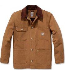 carhartt jas men firm duck chore coat brown-m