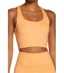 girlfriend collective paloma sports bra, size large in horizon at nordstrom