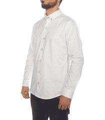 camisa frank pierce confort scarlet - blanco