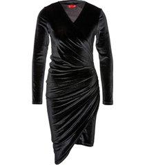 hugo nelvety dress black
