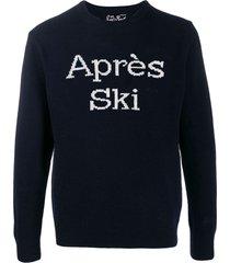 après ski blue mans sweater
