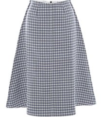 jw anderson plaid check print a-line skirt - blue