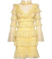 rosa dress korte jurk geel by malina