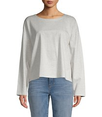 high-low cotton-blend top