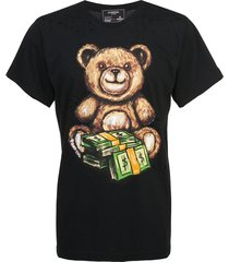 domrebel teddy money print t-shirt - black