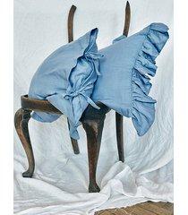lniana poszewka z falbanami baby blue 50x60