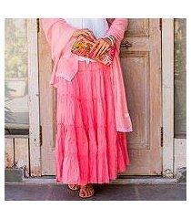 cotton skirt, 'strawberry frills' (india)