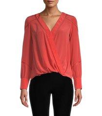bailey 44 women's corine crossover blouse - twilight - size s