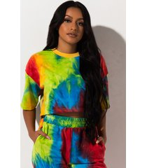 akira rehab clothing taste the rainbow crop top