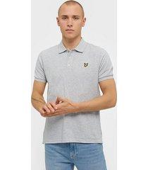 lyle & scott polo shirt piké light grey