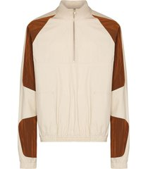 arnar mar jonsson contrasting-panel lightweight jacket - neutrals