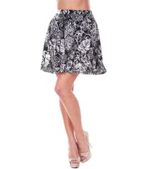 white mark women's paisley heidi skirt