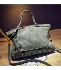 pu leather women handbag casual large capacity bag female totes bolsas trapeze r
