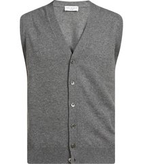 buttoned ribbed gilet