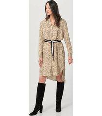 klänning woven dress on knee