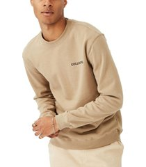 cotton on men's crew fleece sweatshirt