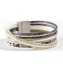millie snake wrap bracelet - silver