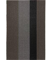 chilewich stripe low pile indoor/outdoor floor mat, size one size - metallic