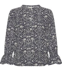 grittpw sh blouse lange mouwen blauw part two