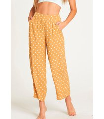 pantalon mujer cut through amarillo billabong