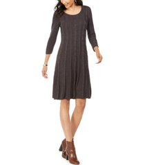nine west cable-knit sweater dress