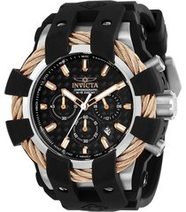 reloj invicta negro modelo 238en para hombres, colección bolt