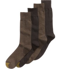 gold toe men's socks, dress flat knit 4 pack, created for macy's