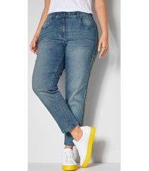jeans janet & joyce blue stone::geel