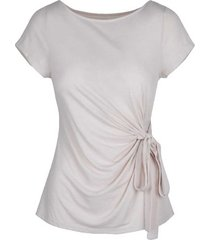 4303 top short sleeve with bow