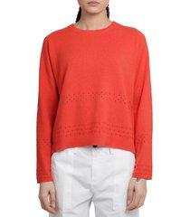 massimo alba red eloise sweater