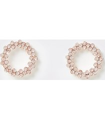 river island womens rose gold colour circle stud earrings