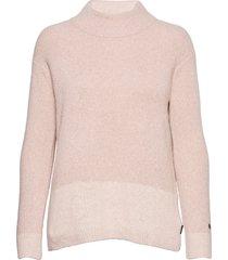 ls lurex mock neck sweater gebreide trui roze calvin klein