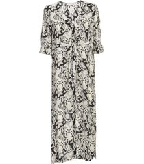 see by chloé long dress 3/4s v neck multi