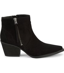 whistler faux suede booties