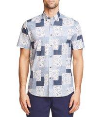 tallia men's slim fit cotton stretch shirt