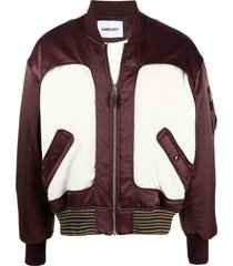 ambush ma-1 panelled bomber jacket - purple