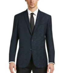awearness kenneth cole green jacquard slim fit dinner jacket