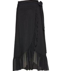 dot mesh skirts wrap skirts svart ganni