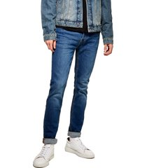 men's topman stretch skinny fit jeans, size 28 x 32 - blue