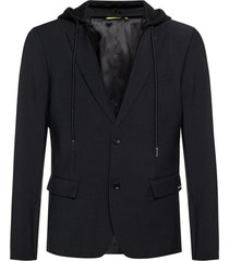 hooded blazer