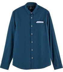 scotch & soda regular fit chic pochet shirt blue