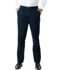 pantalón gabardina pinzado azul marino kotting