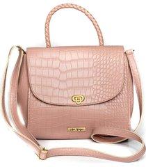 bolsa handbag ana viã©gas mã£o transversal dia a dia rosa - rosa - feminino - dafiti
