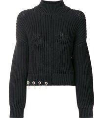 versus logo charm sweater - black