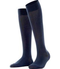 women's falke touch knee high socks, size 39/42 - blue