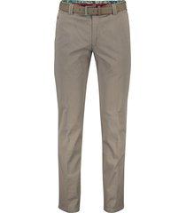 meyer bonn broek flatfront grijs met riem