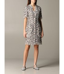 blumarine dress blumarine dress in animal print lurex mat